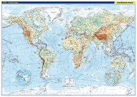 Kartografie PRAHA Svět Fyzická mapa 1:22 000 000 cena od 402 Kč