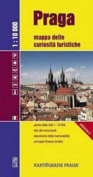 Kartografie PRAHA Praga Mappa delle curiositá turistische 1:10 000 cena od 43 Kč