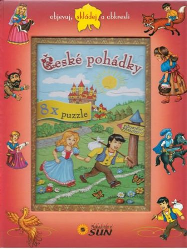 České pohádky 8x puzzle cena od 165 Kč