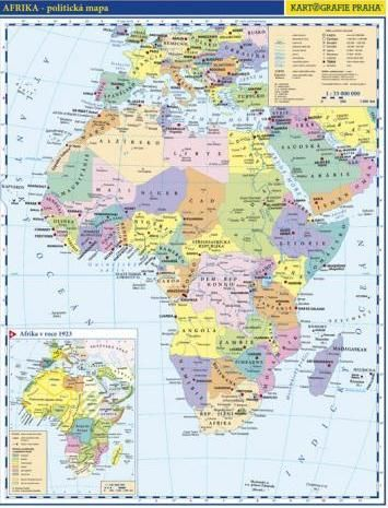 Afrika-politická mapa cena od 31 Kč