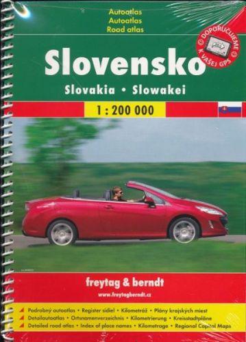 Autoatlas Slovensko 1:200 t spirála cena od 130 Kč