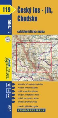 Český les-jih chodsko 1:70 000 cena od 16 Kč