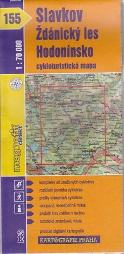 Slavkov Ždánický les Hodonínsko 1:70 000 cena od 14 Kč