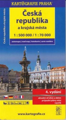Česká republika 1:500 000, krajská města 1:70 000 cena od 112 Kč