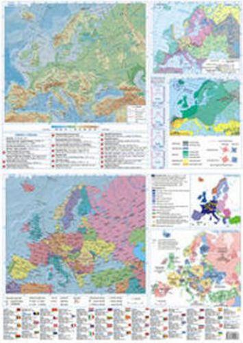 Evropa mapa lamino cena od 34 Kč