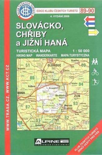 KČT 89-90 Slovácko, Chřiby a jižní Haná cena od 89 Kč