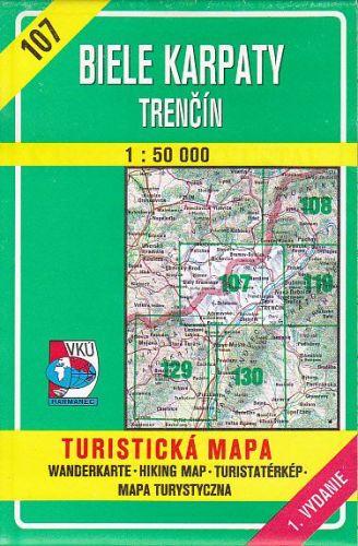 Mapa č.107-Biele KarpatyTrenčín cena od 40 Kč