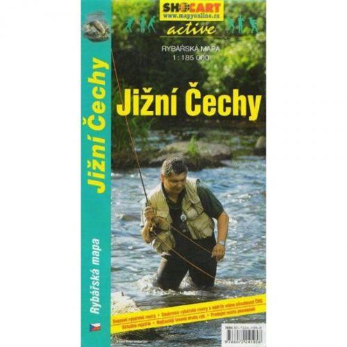 Jižní Čechy rybář.mapa cena od 20 Kč