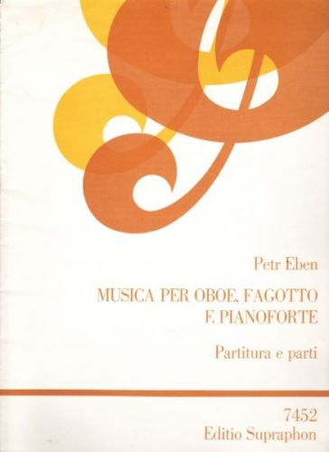 Eben Petr: Musica per oboe,fagotto,pianoforte cena od 72 Kč