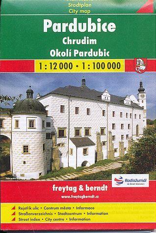 Plán města Pardubice, Chrudim a okolí 1:12000 a 1:100 000 cena od 69 Kč