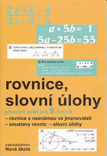 Rosecká Zdena: Rovnice, slovní úlohy 9.ročník cena od 28 Kč