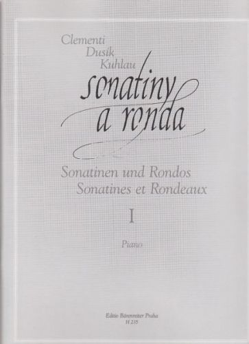 Clementi-Dusík: Sonatiny a ronda I cena od 185 Kč