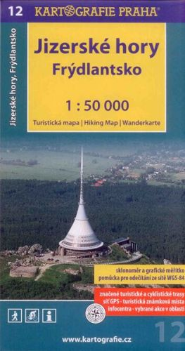 Jizerské hory frýdlantsko 1:50 000 cena od 77 Kč