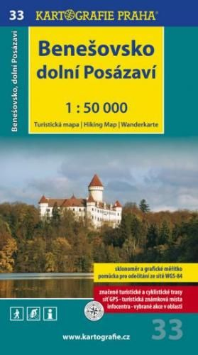 Benešovsko Dolní Posázaví 1:50 000 cena od 57 Kč