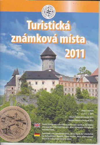 Turistická známková místa 2011 cena od 35 Kč