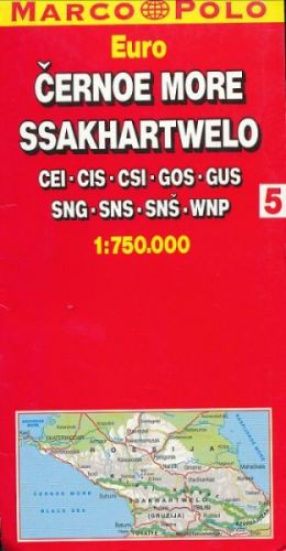 Černoe more automapa č.5 1:750 000 cena od 43 Kč