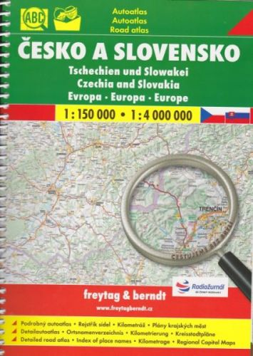 Česko a Slovensko 1:150 000 autoatlas cena od 277 Kč
