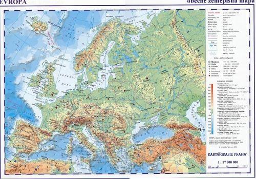 Evropa mapa politické rozdělení cena od 35 Kč