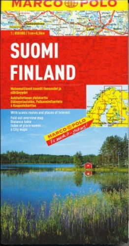 Finsko mapa cena od 135 Kč