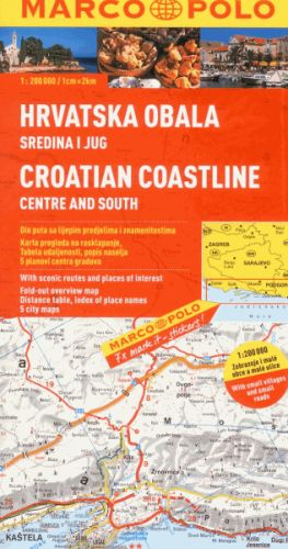 Chorvatské pobřeží střed a jih 1:200 000 cena od 160 Kč