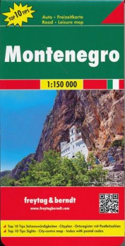 Černá hora 1:150 000 cena od 150 Kč