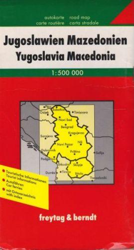 Jugoslávie, Makedonie 1:500 000 cena od 146 Kč