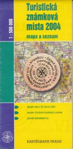 Turistická známková místa 2004 cena od 0 Kč