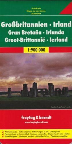 Velká Británie, Irsko 1:900 000 cena od 190 Kč