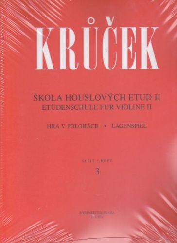 Václav Krůček: Škola houslových etud II sešit 3,4 cena od 319 Kč
