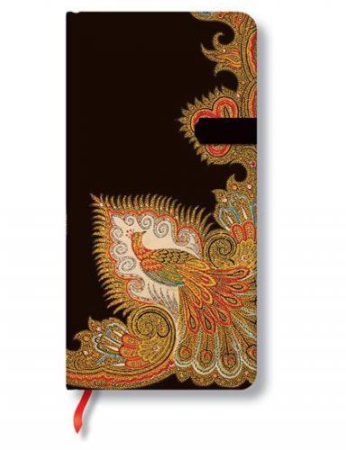 Zápisník - Swirling Peacock Ebony Slim, slim 90x180 cena od 236 Kč