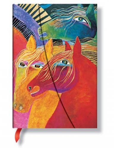 Zápisník - Wild Horses of Fire, mini 95x140 cena od 0 Kč