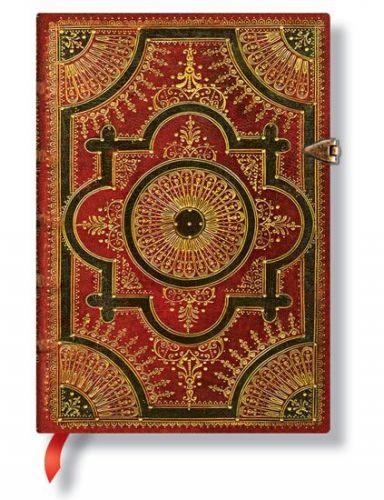 Zápisník - Ventaglio Rosso, midi 120x170 LIned cena od 485 Kč