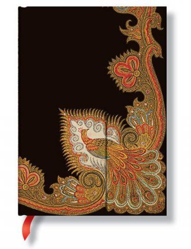 Zápisník - Swirling Peacock – Ebony Wrap, midi 120x170 cena od 0 Kč