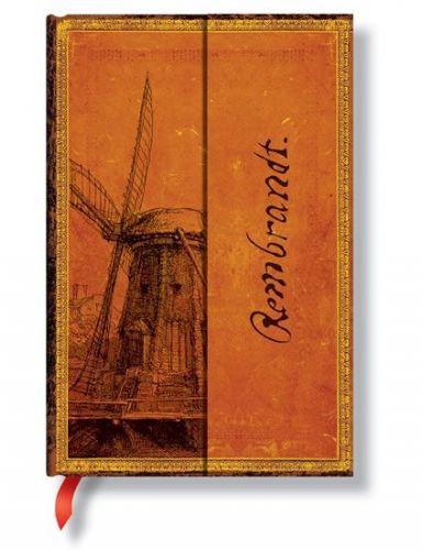 Zápisník - Rembrandt, The Windmill Mini W, mini 95x140 cena od 0 Kč