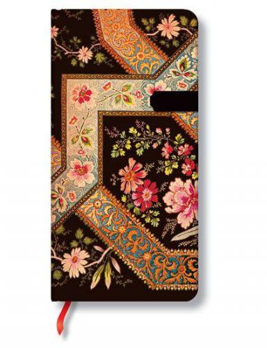 Zápisník - Filigree Floral Ebony Slim, slim 90x180 cena od 240 Kč