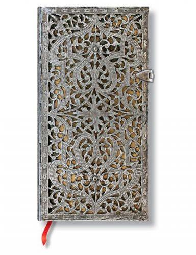 Zápisník - Natural Silver Filigree, slim 90x180 Lined cena od 499 Kč