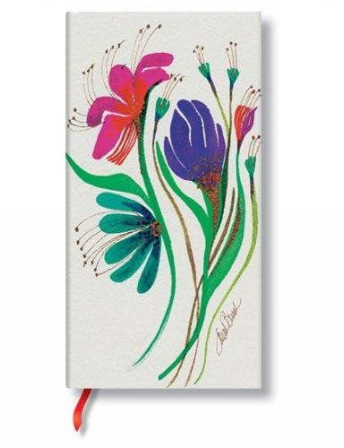 Zápisník - Wind Flowers Laurel Burch Blossom, slim 90x180 Lined cena od 0 Kč
