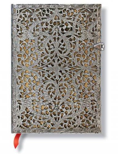 Zápisník - Natural Silver Filigree, midi 120x170 Unlined cena od 556 Kč