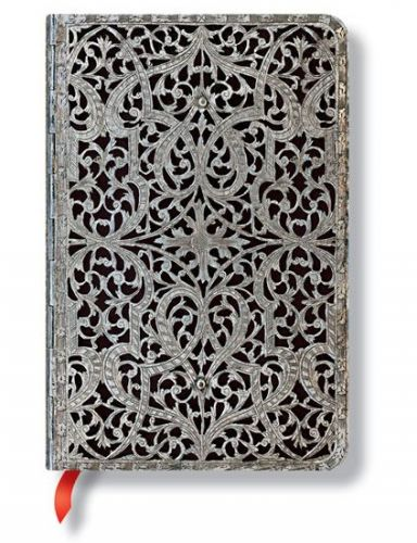 XXL obrazek Zápisník - Shadow Classic Silver Filigree, mini 95x140 Lined