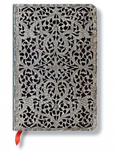 Zápisník - Shadow Classic Silver Filigree, mini 95x140 Lined cena od 256 Kč