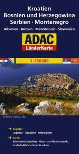 Západní Balkán 1:750T cena od 134 Kč
