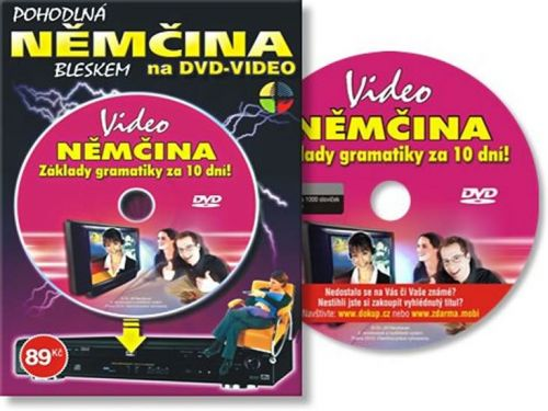 Němčina základy gramatiky za 10 dní - DVD cena od 93 Kč