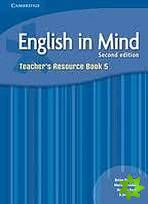 English in Mind 2nd Edition Level 5 - Teacher's Resource Book cena od 600 Kč