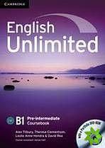 English Unlimited Pre-Intermediate - Coursebook with e-Portfolio cena od 488 Kč