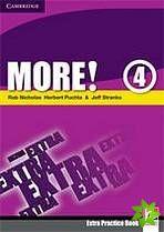 More! Level 4 - Extra Practice Book cena od 144 Kč