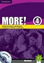 More! Level 4 - Workbook with Audio CD cena od 212 Kč