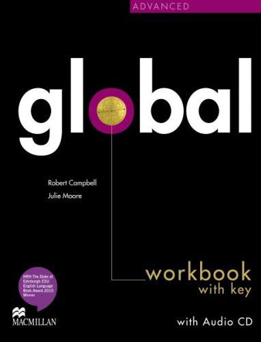 Global Advanced - Workbook with key + CD cena od 252 Kč