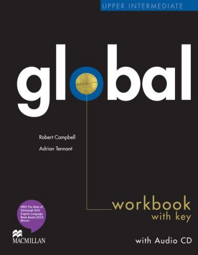 Global Upper-intermediate - Workbook with key + CD cena od 252 Kč