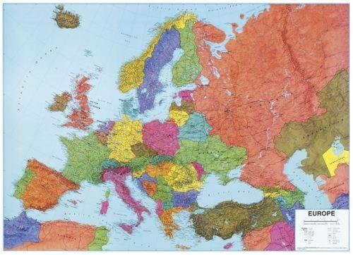 Nástěnná mapa - Obří Evropa - lamino + lišty cena od 1990 Kč