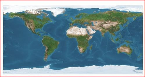 Stolní mapa Satelitní svět cena od 149 Kč